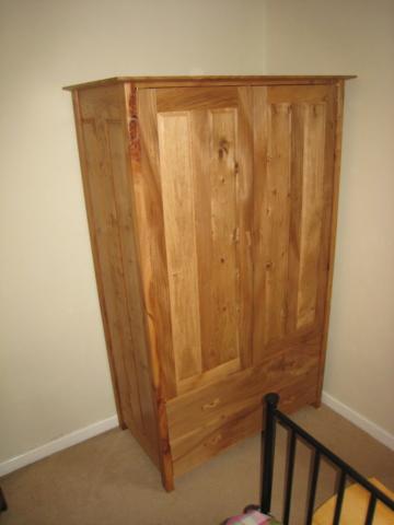 Elm and oak wardrobe